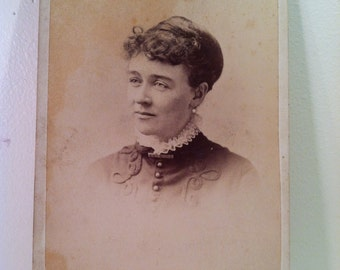 Turn Of The Century Antique Photograph Of A Woman With Kind Eyes.