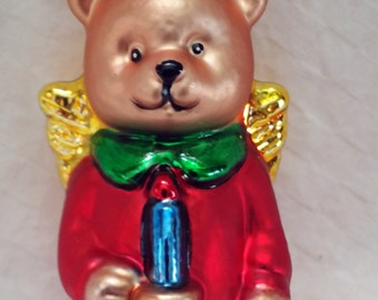 Glass Vintage Teddy Bear Ornaments