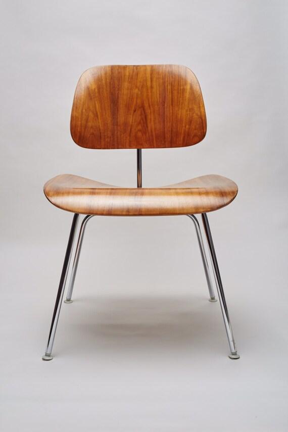 Eames dcm chair mid century modern herman miller restored free