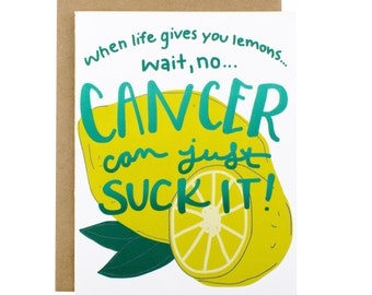 Cancer Card Thinking Of You Card Cancer Sympathy Card Funny Cancer Card Encouragement - Cancer Recovery Card - Cancer Survivor Card