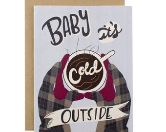 Christmas Cards / Christmas Card Set / Holiday Card Set / Baby It's Cold Outside
