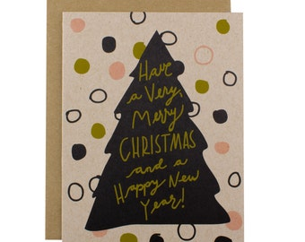 Christmas Tree Card - Christmas Tree Cards - Very Merry Christmas Tree Card Pack
