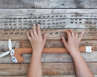 Unique design computer wrist pad geek gift.