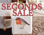 SECONDS SALE Robin Cotton Tote Bag