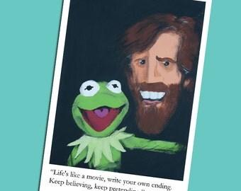 Jim Henson & Kermit Print