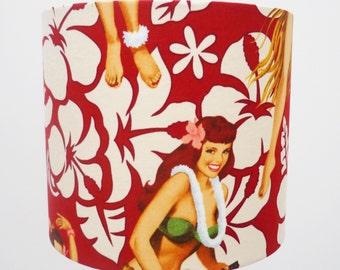 MEDIUM Aloha Table Lamp Shade Medium Lampshade Home Hawaii Lampshade Medium Fabric Lampshade