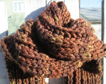 Rustic Woods Men's Scarf in Fisherman's Rib Stitch - Made to Order