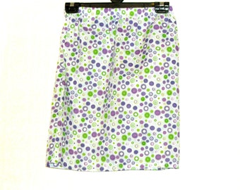 Mini Skirt,Womens Skirts, Spotted Skirts, Size Small, Summer Skirts, Cotton Skirts, By Rebeccas Clothes