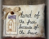 Americana Stitchery Pillow