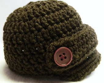 Newsboy Crochet Hat - Made To Order