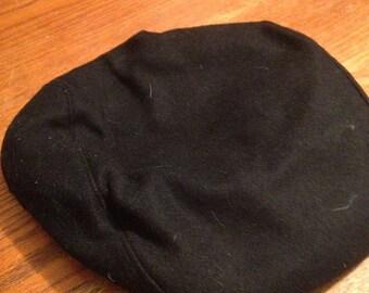 Black Wool Newsboy Cap