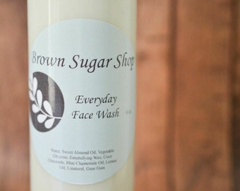Everyday Face Wash - All Natural Gentle Non Drying