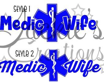 Medic Wife Decal