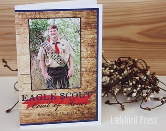Printable Eagle Scout Court of Program Cover - Personalized - Boy Scouts - Eagle - Court of Honor - PDF
