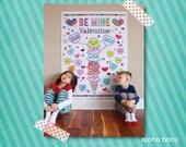 Aloha Baby giant valentine coloring page printable