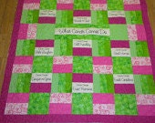 What cancer cannot do - Chreerful Inspriational Throw/Lap quilt