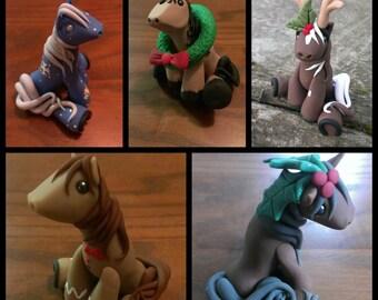 custom order holiday pony