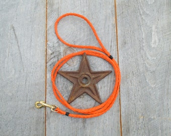 Salvaged rope leash for smaller breeds
