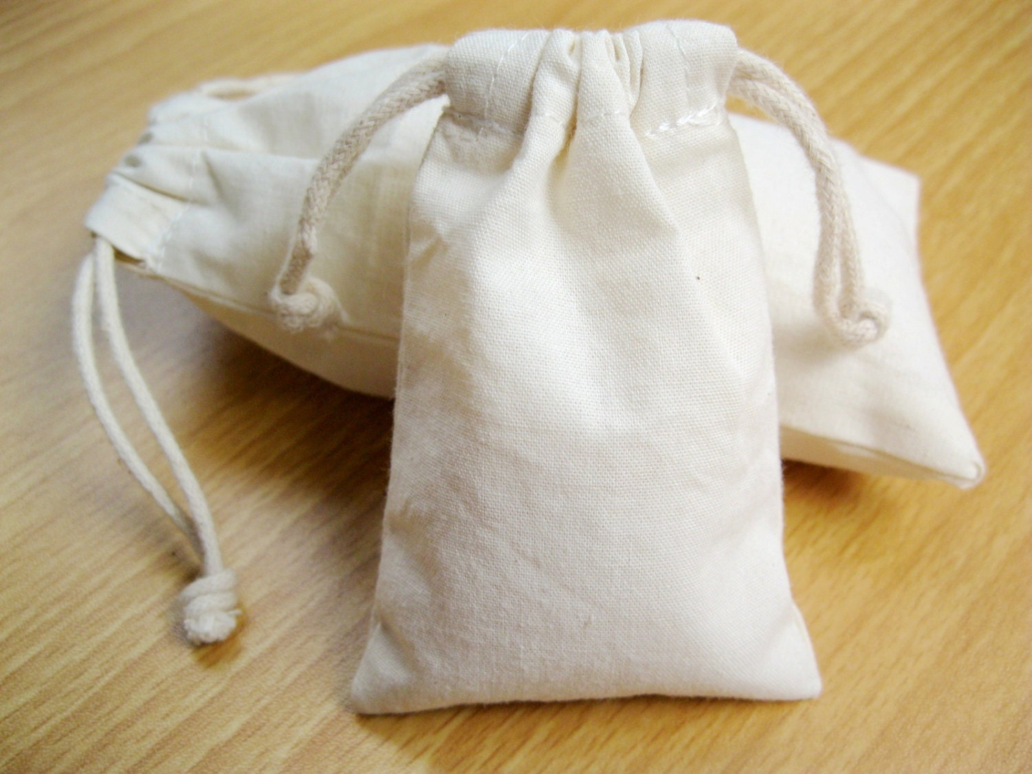 Custom Plain Drawstring Muslin Bag 100% Cotton Gift Bags