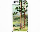 iPhone 5 Case. iPhone 5S Case. Silicone Lined Tough Case. Vintage Paint By Number Landscape. Case for iPhone 5.