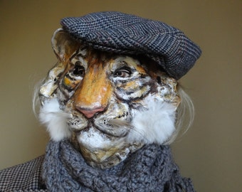 Animal masks Paper mache tiger mask tiger costume Before Sunrise