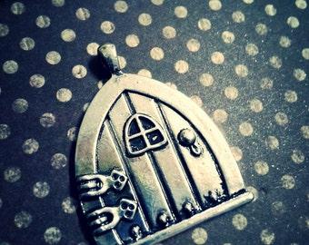 Fairy Door Charm Pendant Antiqued Silver Fairy Charm Pendant Fairy Garden Door & Door charms | Etsy pezcame.com