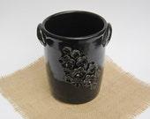 Black Floral Vase/Wine Cooler
