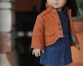 Adobe Jacket and Denim Blue Linen Shirtdress for AG Doll