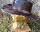 Australian Outback Squashy Bush Hat COWHIDE LEATHER