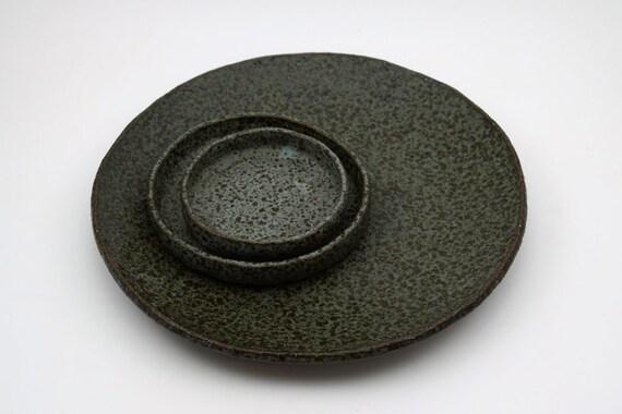 rustikale serving set steinzeug teller gesprenkelt keramik. Black Bedroom Furniture Sets. Home Design Ideas
