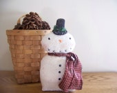 Primitive Sparkly Snowman Shelf Sitter Holiday Winter Decor