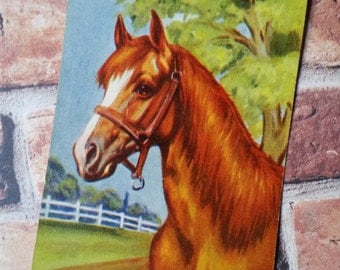 3 Vintage Horse Playing Cards Show Farm Barn Tags