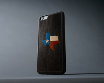 Texas inlay iPhone 6 Plus / 6s Plus Traveler Wood Case - Made in the USA - FREE Shipping