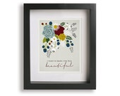 She Will Be Loved inspired song lyric art - personalized sign, wife gift, wedding, anniversary, floral, home decor, gift idea