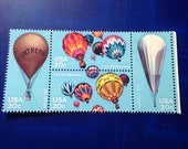 1982 US Stamps Set of 4 Hot Air Balloons// Unused and Suitable for Framing/ Scrapbooking/Art Supply/ Collectible Philately