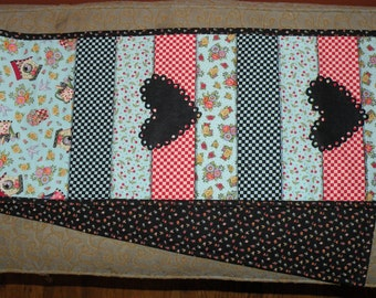 Mary Engelbreit fabrics homemade quilted table runner
