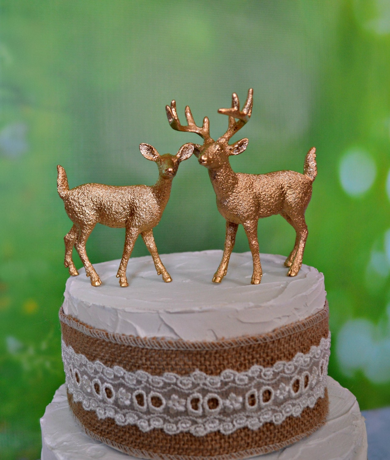 gold deer wedding cake topper gold deer wedding cake toppers groom fall autumn silver 14750