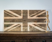 Custom size 90 by 45 cm Wall art Union Jack flag wooden carved edition   sign carved in salvaged palette