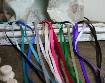 6mm Satin Ribbon All colours,, Thin ribbon Trim, 5 Metres, Craft, Wedding, Cards