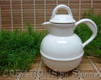 Guernsey Milk Jug, by Stangl Pottery 1920s design Replica Creamer Off White Ceramic Collectible like new Vintage FREE SHIPPING (290)