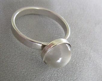 Moonstone ring - Silver stone Ring - Natural gemstone ring