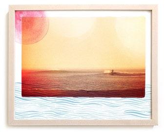 "Surf Art Print ""Waterways"" - Mixed Media"