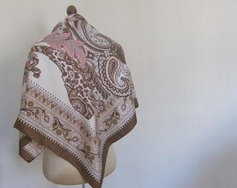 BASLER square  silk scarf ASYMMETRICAL print
