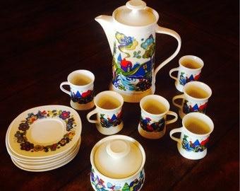 Vintage patterned coffee/tea set