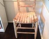 Shabby Painted and Distresses Kitchen Chair