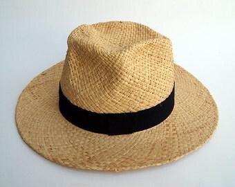 Straw hat , Wide brim straw hat , Bohemian straw hat for women, straw hat for men, Summer hats , Sun Hat , Beach hat