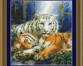 Always Together Tigers Cross Stitch Kit Near North Treasures 99057