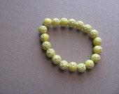 JEWELRY SALE- Girls Bracelet- Beaded Children's Jewelry-  Yellow with little stars