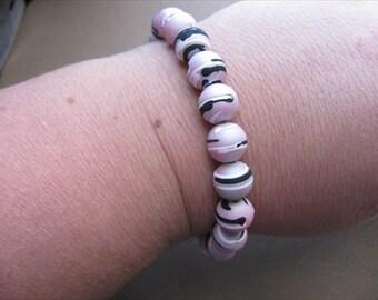 JEWELRY SALE- Light Pink Beaded Bracelet