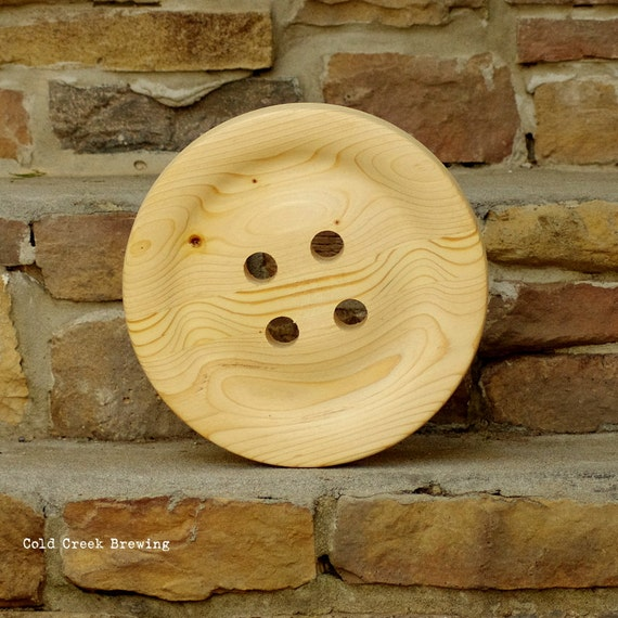 Button - Wood Button - Giant Wood Button